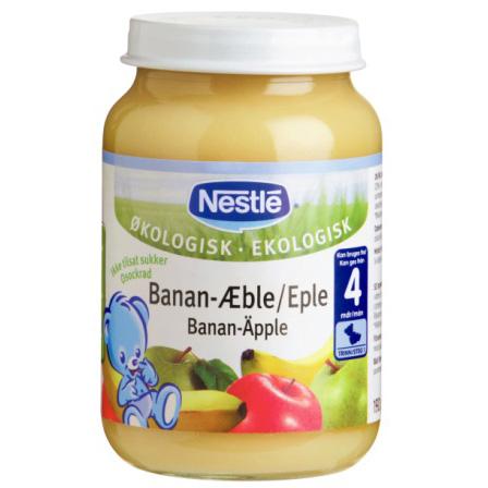 Nestlé Banan-Æble, fra 4 mdr.