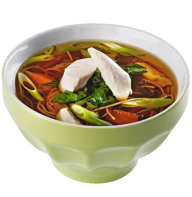 Thaisuppe med kylling og ingefær