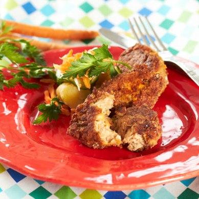 Kyllingefrikadeller og kartoffelsalat