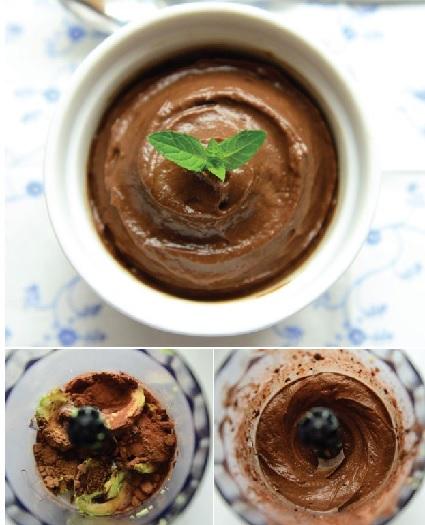 Chokoladebudding med avocado