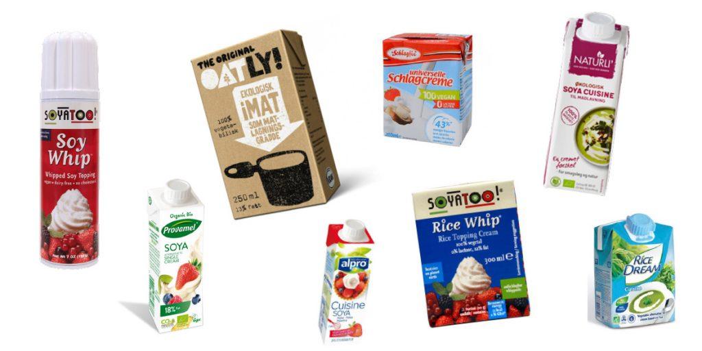 Erstatte mælk indenfor madlavningsfløde og piskefløde